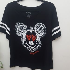 Disney Womens Mickey Mouse Plus size Jersey 2x